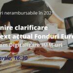 Întâlnire deschisă cu privire la programulDigitalizarea IMM-urilor