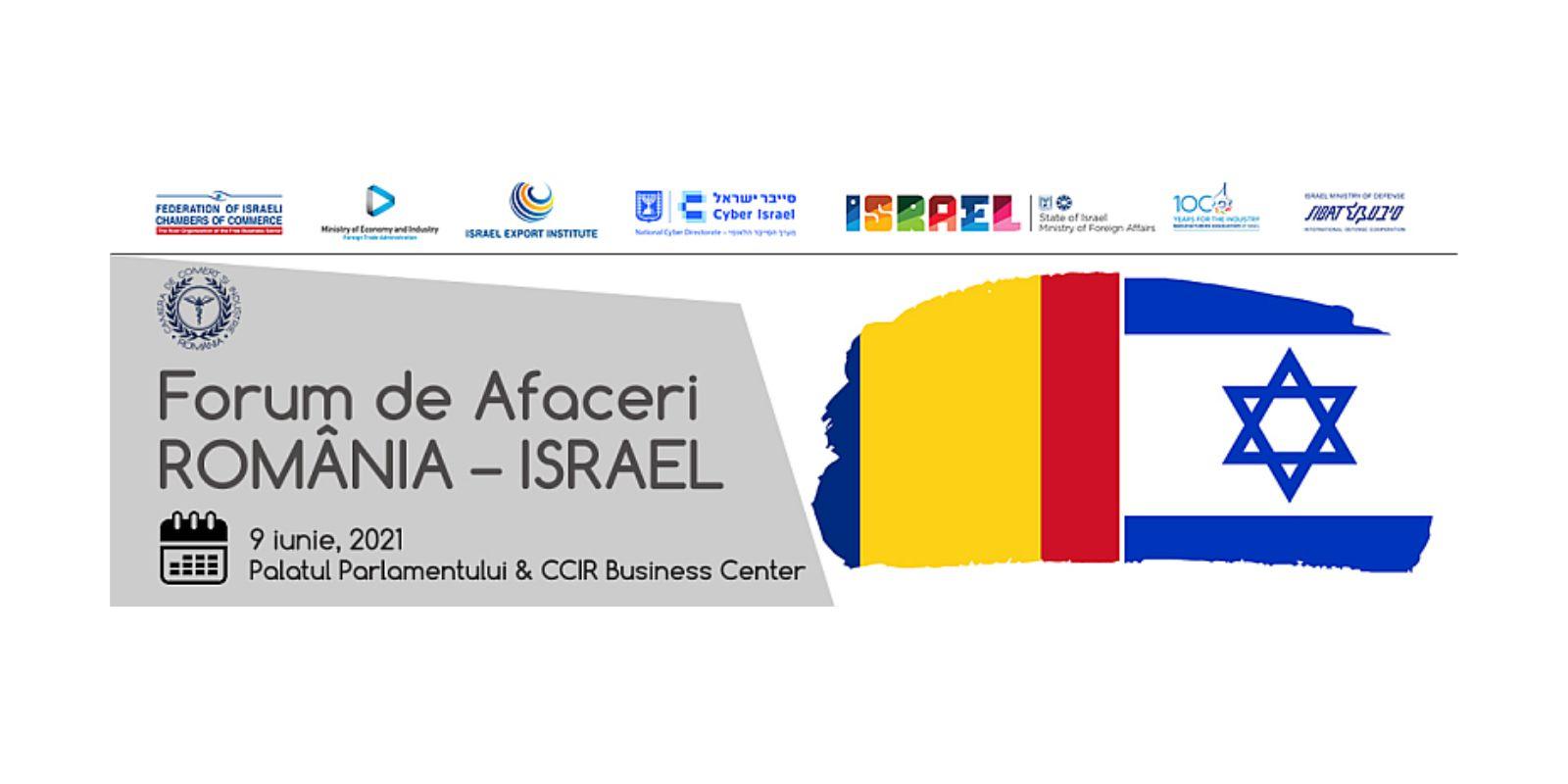 You are currently viewing Forumul de afaceri România-Israel, 9 iunie 2021